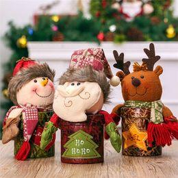 $enCountryForm.capitalKeyWord NZ - Christmas Decorations 3pcs Santa Claus+Snowman+Elk Christmas Box Candy Storage Box Home Decoration Accessories Candy Organizer