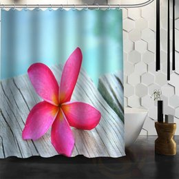 Best Bath showers online shopping - Best Nice Custom Plumeria Flower Shower Curtain Bath Curtain Waterproof Fabric For Bathroom MORE SIZE WJY