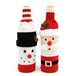 $enCountryForm.capitalKeyWord Australia - Snowmen Wine Bottle Cover Bag Knitting Banquet Christmas Decoration for home Dinner Party Table Decoration New Year Navidad