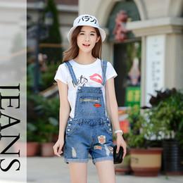 321c2fe1cb3a New Denim Playsuits Women Washed Patchwork Hole Jeans Jumpsuit Romper For Women  Denim casual Short Jeans Female K9213