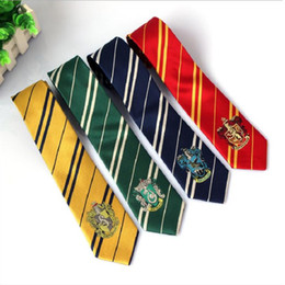 Discount army badges - striped neckties college style strips tie badge cosplay dress shirt student ties 6cm red green blue yellow 2pcs lot