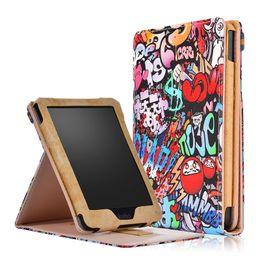 $enCountryForm.capitalKeyWord NZ - High Quality PU Leather Smart Cover Magnetic Folding Folio Case for Kobo Clara Clear HD 6 inch Tablet Protective Skin Shell+Stylus
