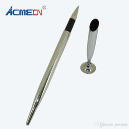 China ACMECN Ballpoint Pen with Base for Teachers Table Pen sets Silver Ball with Stand Classic Office Accessory Bank Desk set cheap table for office desk suppliers