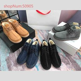 $enCountryForm.capitalKeyWord NZ - Winter New Fashion Boots Men Casual Cotton Shoes Lace-Up High suedeTop Men Luxury Punk Flat add velet ankleboots