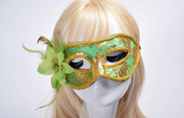 $enCountryForm.capitalKeyWord Australia - a34 Factory direct sales of new velvet side flower mask with flowers half face mask Halloween make-up dance props wholesale