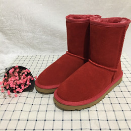 Cowhide snow boots online shopping - HOT Plus size US3 designer shoes Australian style ugs Women classic waterproof snow shoes real cowhide warm winter boots shoes brand IVG