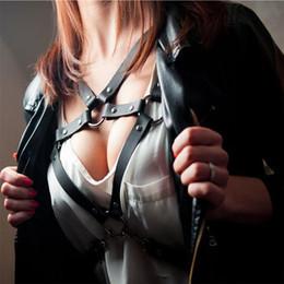 $enCountryForm.capitalKeyWord NZ - Adjustable Sexy Women Girl PU Leather Punk Harness Belt Female Black Gothic Bondage Bra Waist Belts Harajuku O-ring Body Garter