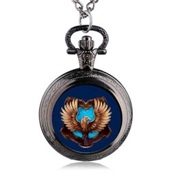 pocket watches for 2019 - New Arrival Classic Movie Watches Ravenclaw Designer Quartz Pocket Watch With Necklace Chain For Men Women Xmas Gift TPM