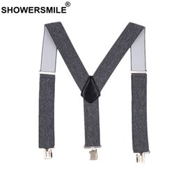 $enCountryForm.capitalKeyWord NZ - SHOWERSMILE Male Adult Suspenders Gray Wide 5cm Mens Braces For Trousers 4 Clips Elastic Brand Man Pants Accessory 120cm