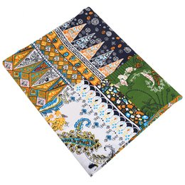 Wholesale shirt quilt for sale – custom MoTiRo Half Meter Village Floral Series Printed Stretch Poplin Plain Cotton Fabric For DIY Quilt Sewing Dress Shirt Skirt Cloth