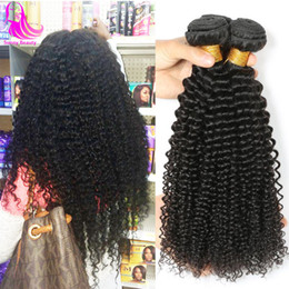 african american hair weaves Australia - Mongolian Kinkys Curly Hair Weaving 3 Bundles Jerry Curly Hairs Bundles Afro Bundel Deals Sexy Tight Bouncy Curly African Americans Women