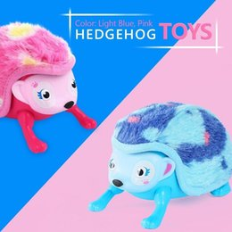 FUNY FUN Interactive Pet Hedgehog with Multi-modes Lights Sounds Sensors Light-up Eyes Wiggy Nose Walk Roll Headstand Curl up Giggle Toys fo from flowers for wedding car decoration suppliers