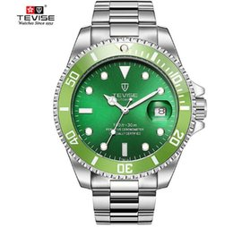 men dress automatic watches 2019 - 2018 Treaure Mens Dress Watches Luxury TEVISE Business Men Automatic Mechanical Stainless Steel Calendar Military Watch