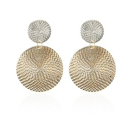 Discount indian coin wholesaler - E021 New Fashion Geometric Square Round Coin Earrings For Women Fashion Punk Gold Indian Long Drop Earrings Jewelry Brin