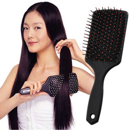 Wholesale paddle resale online - Professional Healthy Paddle Cushion Hair Loss Massage Brush Hairbrush Comb Scalp Hair Care