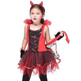 Cat Girl Costume Kids Australia - Little Wild Cat Girls Red Cosplay Dresses Set for Halloween  sc 1 st  DHgate.com & Cat Girl Costume Kids Australia | New Featured Cat Girl Costume Kids ...