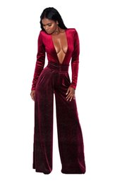 49283a2fb99 NEW Sexy Bodysuit Fashion Big Women Long Sleeve Rompers Maxi Overalls Belted  Wide Leg Jumpsuit S-3XL Plus Size Macacao Long Pant