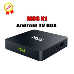 Wifi Game Player Canada - M9S X1 Android 6.0 TV BOX Smart Mini PC Amlogic S905X Quad Core H.265 Media Player 2.4GHz Wifi HDMI 2.0A Game 1080P Home Theater