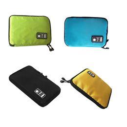 Digital Wallet NZ - Multifunctional waterproof SD card digital accessories travel storage bag Mobile USB data cable mobile power storage bag
