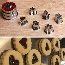 Pastry Cutters Australia - 7PCS Diy cooking cake cookies pastry cutter fruit vegetable slicer mould baking cooking mould tools sugarcraft cutter bakeware