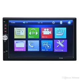 Auto Stereos NZ - 7 Inch Dual Core Bluetooth TFT Screen 2-Din Car Audio Stereo MP5 Player 12V Auto Support AUX FM USB SD MMC 7012B For Cars +B