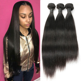 straight indian weave human hair 2019 - 10A Mink Brazilian Straight Virgin Hair Pretty Malaysian Peruvian Hair Weave Bundles 100% Unprocessed Virgin Human Hair