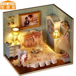 $enCountryForm.capitalKeyWord Australia - CUTE ROOM DIY Doll House Miniature Wooden Dollhouse Miniaturas Furniture Toy House Doll Toys for Christmas and Birthday Gift H10