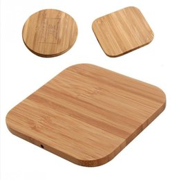 Wholesale Bamboo wood Wireless charger V1A Qi wireless charger For Iphone X XS max XR S9 plus wireless Charging seat