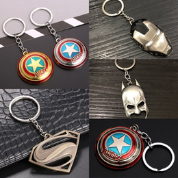 GaraGe accessories online shopping - The Avengers Model Keychain Kid Movie Garage Kit Key Ring Children Fashion Accessories Party Gift Key Buckle bx WW