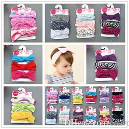 Baby girls Headbands Cotton Dot Floral Fruit hairbands 3pcs set Girls  Children hair accessories Knot Bow Bunny headwear KHA736 bc3fba259e36