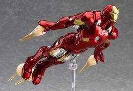 Figma MAX EX-018 L'Avenger Ironman 15 cm Marvel Iron Man Action Figure Modèle Jouets en Solde