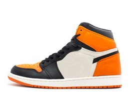 China TOP Factory Version 1 Shattered Backboard Black Orange Basketball Shoes mens trainers New 2018 Classic Sneakers with Box cheap classic genuine leather suppliers