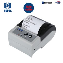 mini bluetooth barcode UK - HSPOS high quality mini 2 inch 58mobile receipt thermal printer with cutter Low battery indicator HS-P58CAI