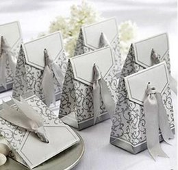 Baby Gift Cakes NZ - Hot Wedding Favour Favor Bag Sweet Cake Gift Candy Wrap Paper Boxes Bags Anniversary Party Birthday Baby Shower Presents Box gold silvery