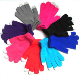 Dark Cycles NZ - Christmas Touch Screen Gloves Winter Outdoor Cycling Gloves For Men And Women Knit Wool Five Fingers Gloves