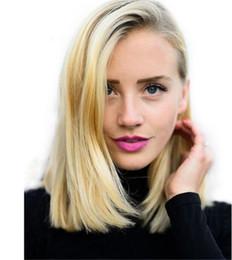 $enCountryForm.capitalKeyWord Australia - Fantasy Beauty hair Virgin ombre Blonde Bob Lace Front Human hair Wig For Black Women 1B 613 Short Wig With Baby Hair