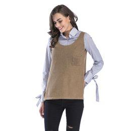 $enCountryForm.capitalKeyWord UK - Women Hot autumn Sleeveless Solid Tank Tops Tassel Kintted Casual Ladies Vest Shirt Blouse O-Neck Camis for girls BM0134