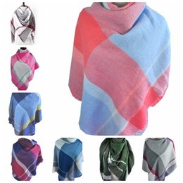 adc7f6dddb5c2 2018 new men women couples plaid stripes line Europe and America autumn and  winter large square scarf shawl