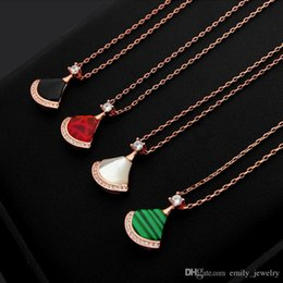 Love Skirts NZ - B letter black and white red and green skirt with diamond necklace Tanabata limited edition fan-shaped skirt red agate necklace