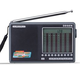 Sw Pack Australia - TECSUN DE-1103FM MW SW Full-Wave Band Radio Receiver Portable Rechargeable Radio With Built-In Speaker Free Shipping