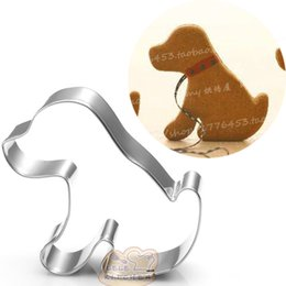 China 10pcs puppy cookie cutter cartoon dog Metal biscuit tool Fruit vegetable die cut Sushi stamp bread mold baking pan cake pastry tools suppliers