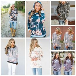 Girls hooded sweatshirts online shopping - Women Hoodie Styles Floral Printed Long Sleeve Pullover Casual Pocket Sweater Sweatshirt Jumper Tops Girls Hoodies OOA5424
