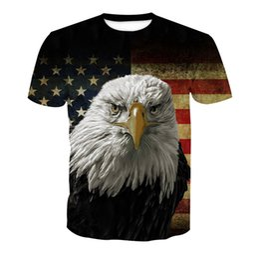 China European and American hot style fashion sales brand fashion hawk digital printed short-sleeve T-shirt men wholesale m-5xl. suppliers