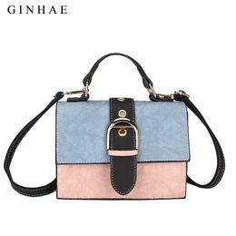 a7e36c4ee10e8 GINHAE Brand Fashion Long Strap Female Handbag Designers Pu Leather  Panelled Mini Shoulder Bag For Women Luxury Crossbody Bag