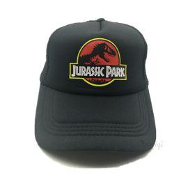 de2e1c28d98 Jurassic Park Dinosaur Trucker Caps Adjustable Women Cool Summer Cool Mesh  Baseball Caps Hats