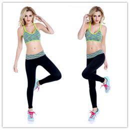 Sweat Yoga Pant Australia - Reno Jesse Women Quick Dry Elastic Sport Running Set Breathable Yoga Bra&Gym Pants Suits,Absorb Sweat Slim Athletic Fitness Sets