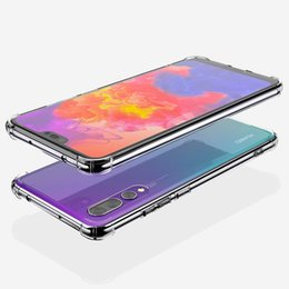oppo transparent phone UK - 1.5MM High Quality Transparent TPU Shockproof Air Cushion Back Cover Phone Case for Huawei Mate 20 P20 Pro Lite Nova 3 3E 3i LG G7 VIVO OPPO