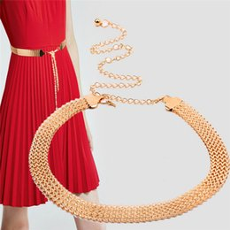 $enCountryForm.capitalKeyWord NZ - Women Metal Luxury Diamond Elegant Waistband Belts Stretchy Strap Female Waist Belts Chain Gold