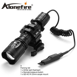 flashlight remote control NZ - AloneFire TK400 CREE L2 tactical light Torch Zoomable LED flashlight hunting lights with remote control switch mount for 18650 rechargeable