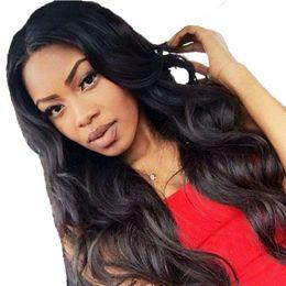 Full Lace Wig Peruvian Hair Australia - Cheap Full Lace Human Hair Wigs Pre Plucked Body Wave Virgin Peruvian Hair Glueless Body Wave Lace Front Human Hair Wigs